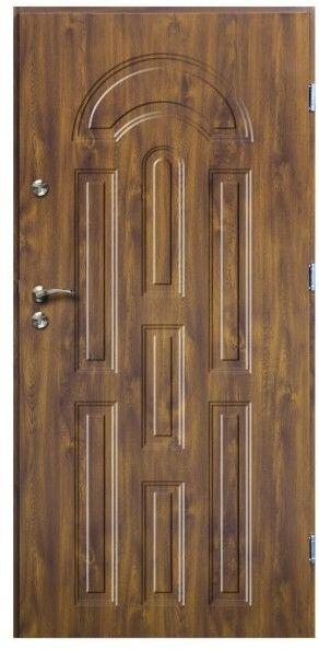 Drzwi zewnętrzne O.K.Doors Azzuro 90 prawe złoty dąb