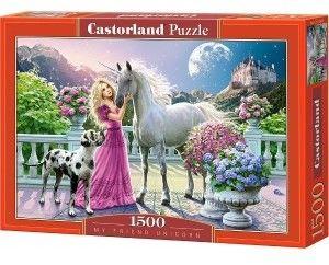 Puzzle Castor 300 - Mój przyjaciel jednorożec, My Friend Unicorn