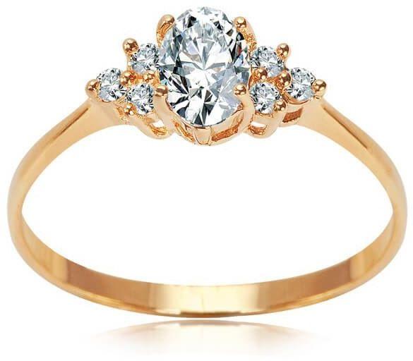 Złoty pierścionek PXC5233 - Cyrkonia