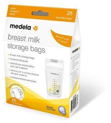 Woreczki na mleko matki, do przechowywania i zamrażania Medela, 25 lub 50 szt.