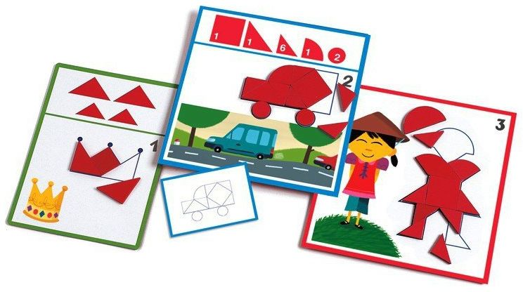 Układanka dla dzieci z kształtami, Eduludo, DJ08300-Djeco - zabawki edukacyjne