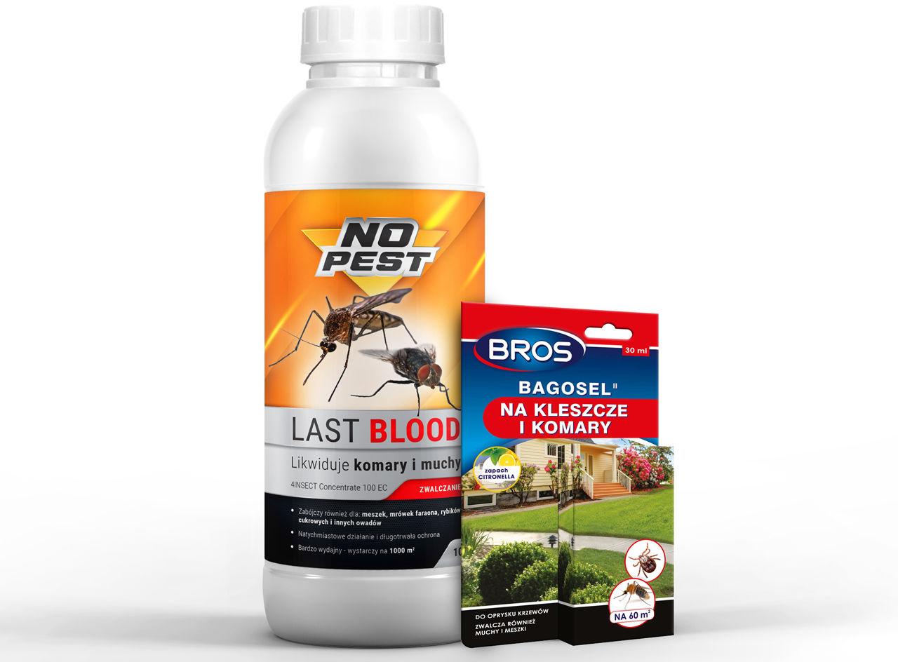 Oprysk na kleszcze, komary, muchy LAST BLOOD 1l + BAGOSEL 30ml.
