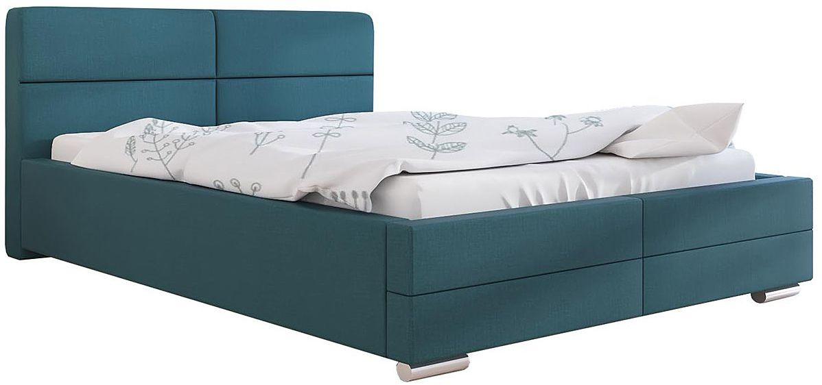Tapicerowane łóżko ze schowkiem 90x200 Oliban 2X - 48 kolorów