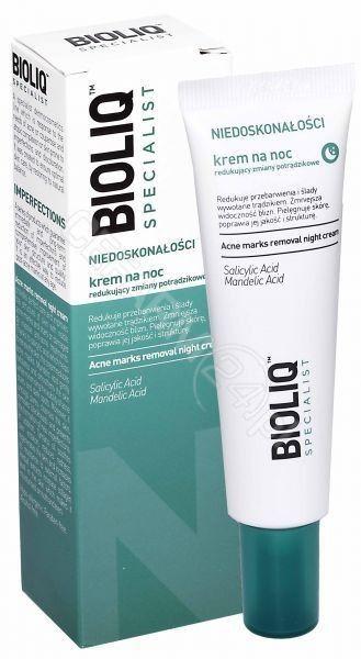 Bioliq specialist krem redukujący zmiany potrądzikowe na noc 30 ml