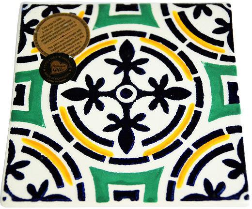 Kafelek / podstawka ceramiczna 15x15cm kolekcja AZULEJO DEC A