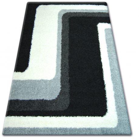 DYWAN SHAGGY ZENA 2527 czarny / szary 160x220 cm