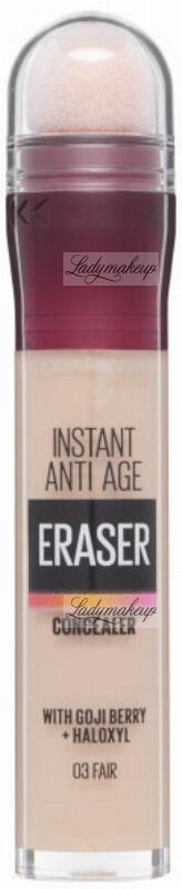 MAYBELLINE - Instant Anti-Age - The Eraser Eye - Perfect & Cover Concealer - Wygładzający korektor do twarzy - 03 - FAIR