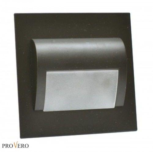 Oprawa schodowa LED 1,2W 12V ProVero DECORUS biała ciepła - czarna
