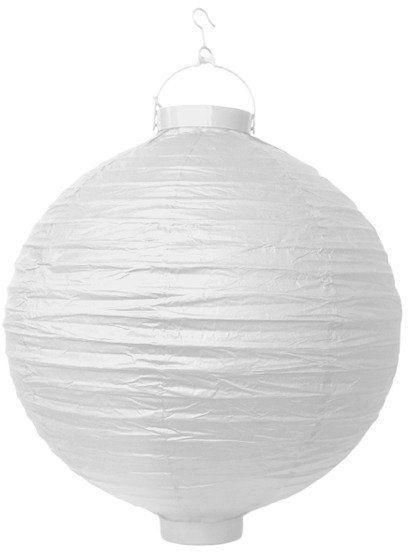 Lampion papierowy 30cm biały 1 sztuka LAO30-008