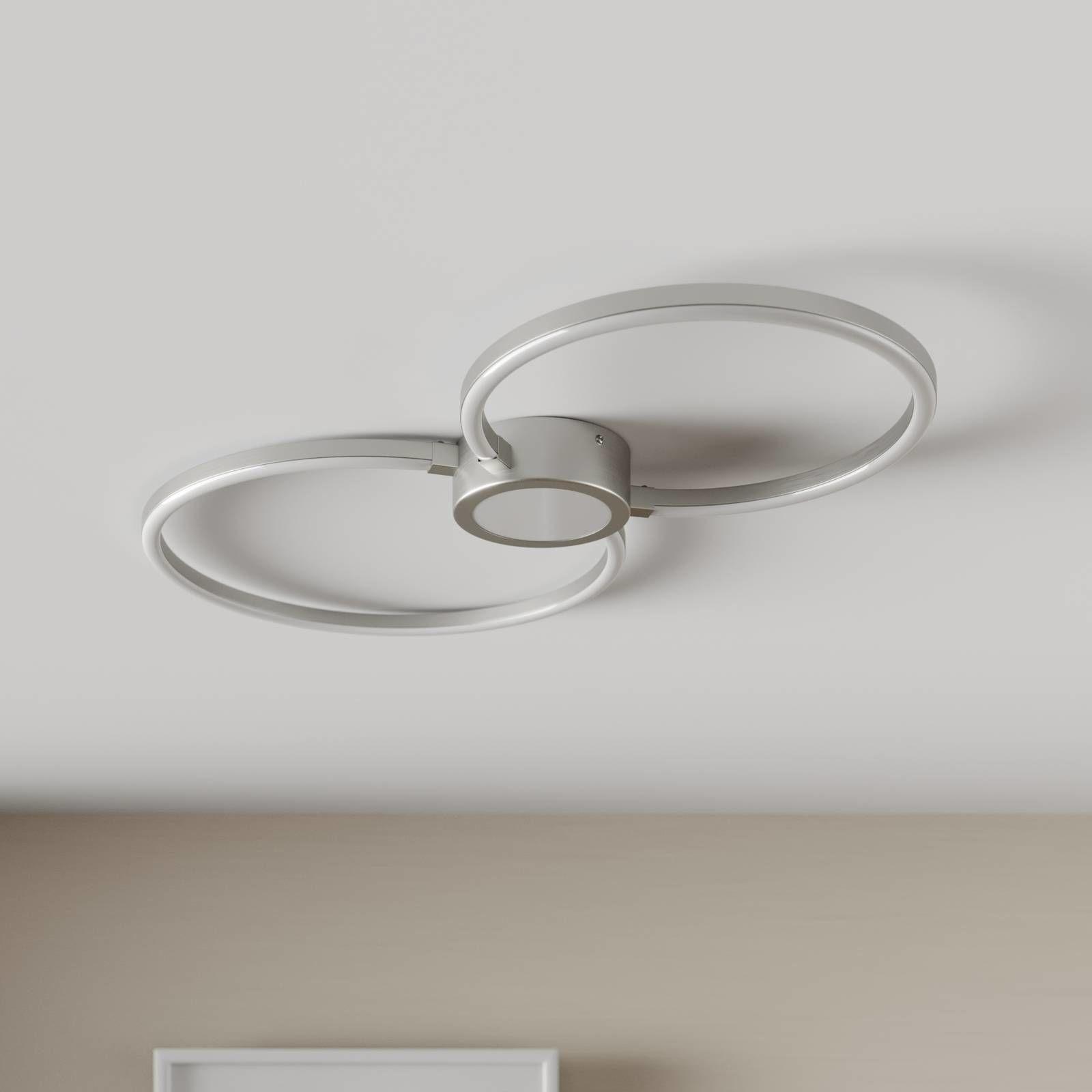 Lampa sufitowa LED Duetto, okręgi