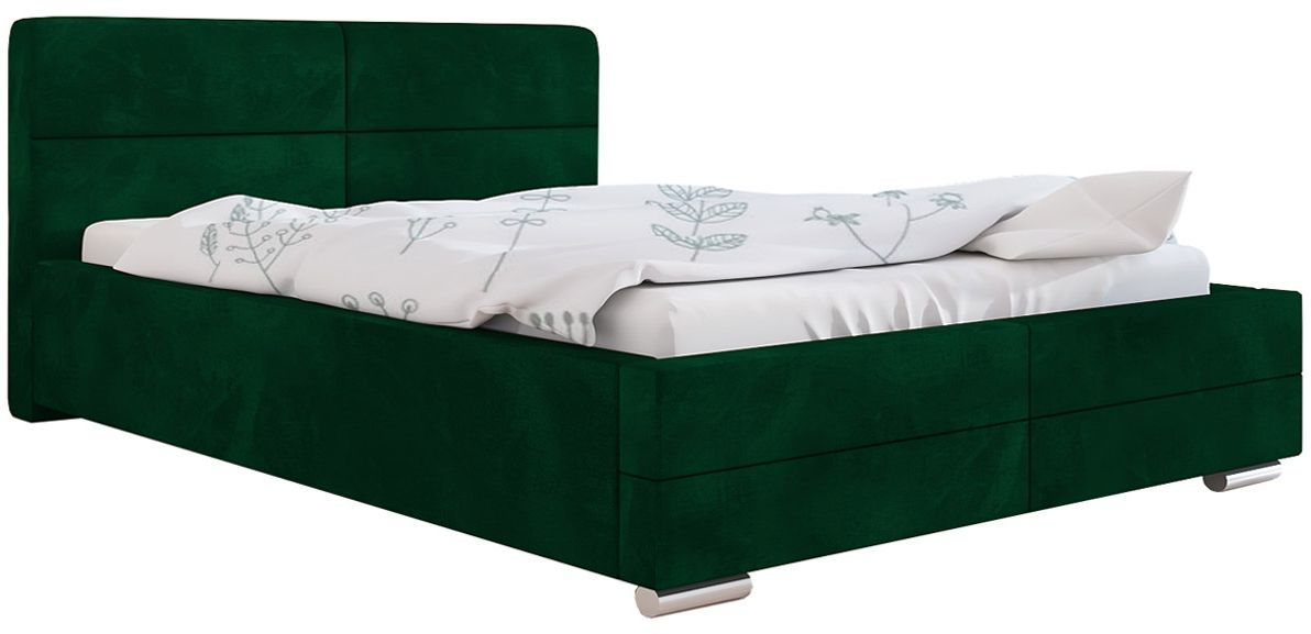 Tapicerowane łóżko z zagłówkiem 120x200 Oliban 3X - 48 kolorów
