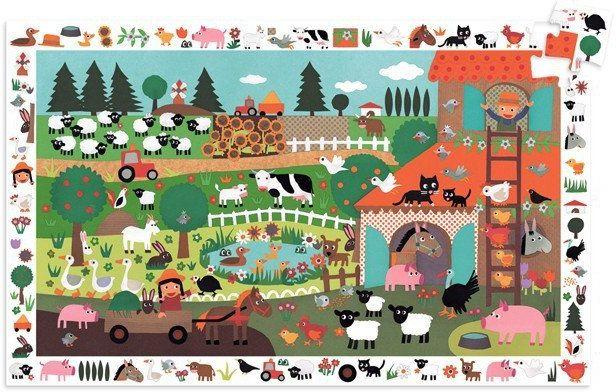 Farma - puzzle dla dzieci, Observation, 35 el., Gigant, DJ07591-Djeco, puzzle tekturowe