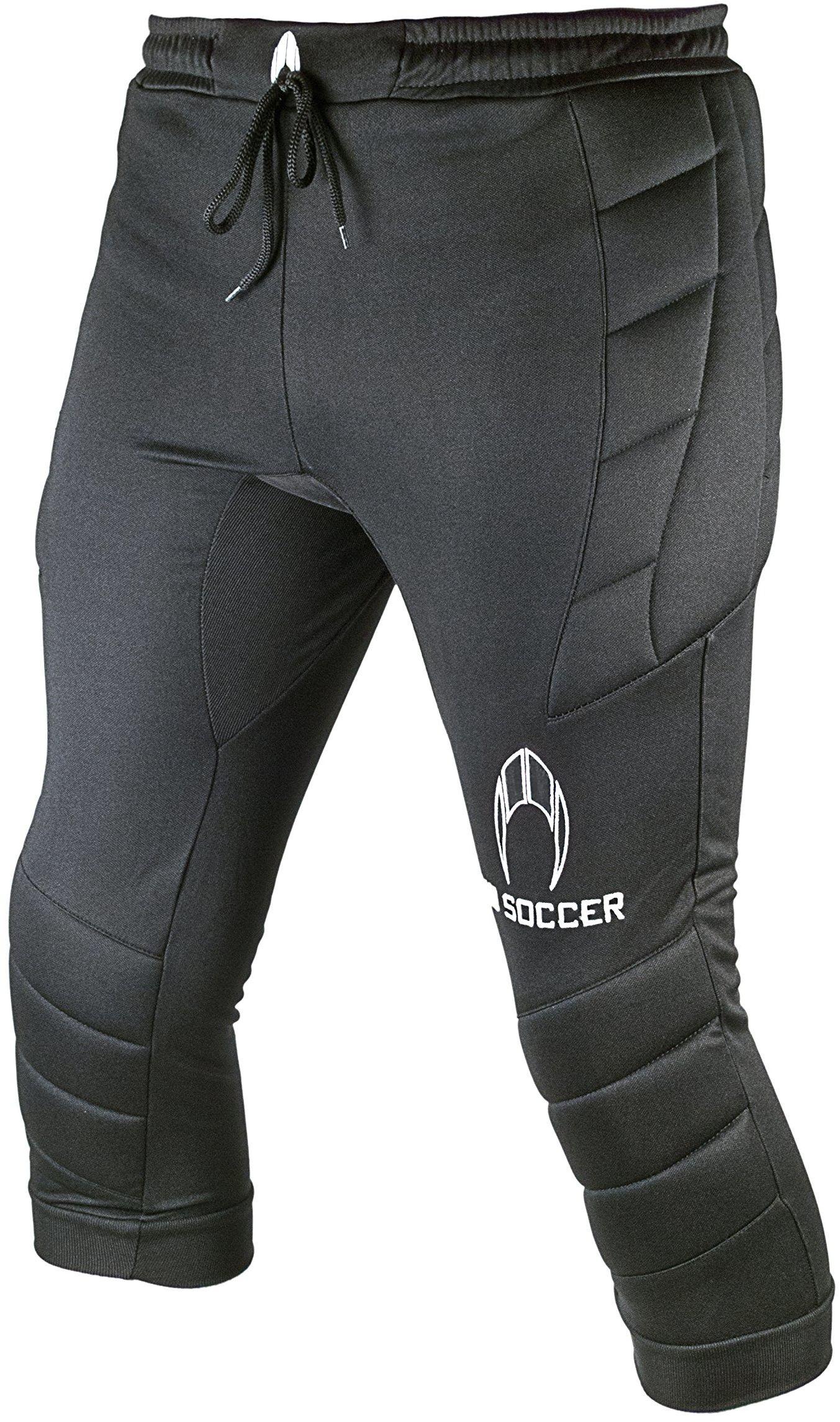 Ho Soccer Torwart 3/4 spodnie z logo, uniseks, dla dzieci, XS czarne