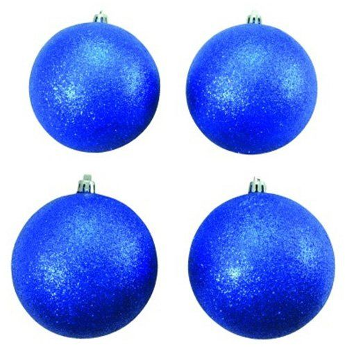 Euro Palms 83501266 kula dekoracyjna 10 cm błyszcząca 4x, niebieska