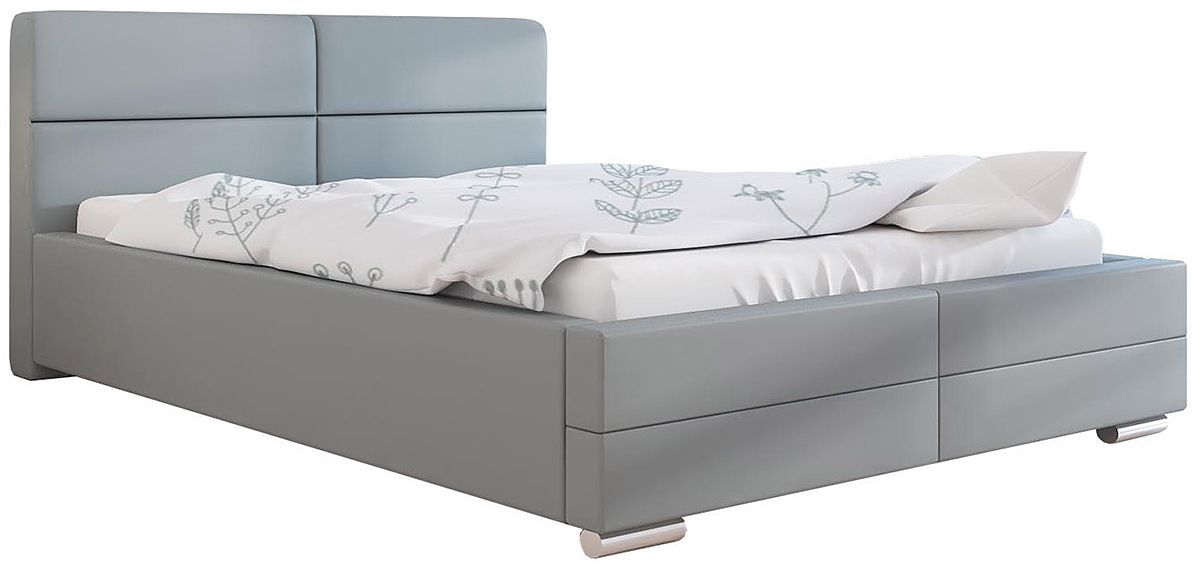Dwuosobowe łóżko z pojemnikiem 140x200 Oliban 3X - 48 kolorów