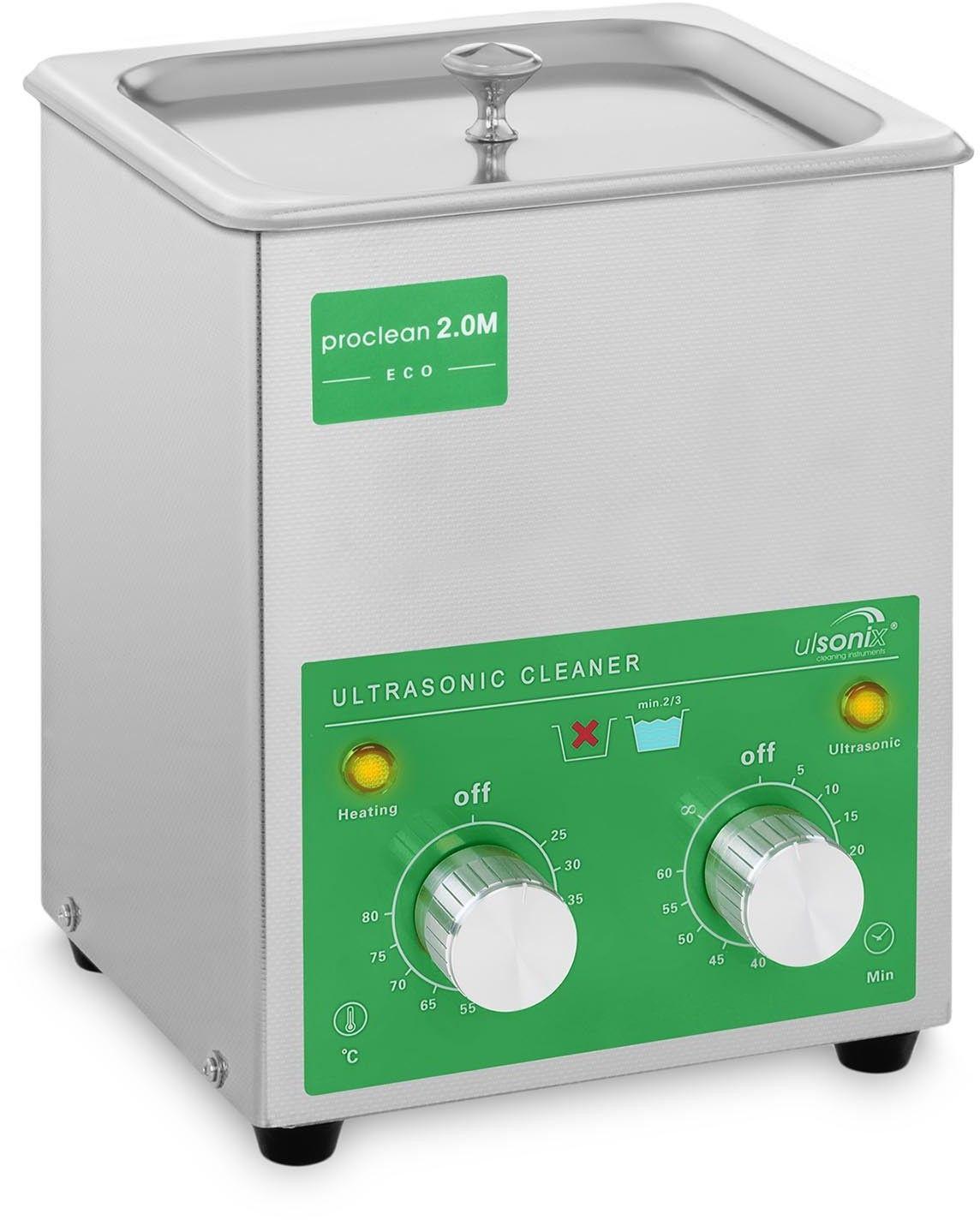 Myjka ultradźwiękowa - 2 litry - 60 W - Basic Eco - ulsonix - PROCLEAN 2.0M ECO - 3 lata gwarancji/wysyłka w 24h