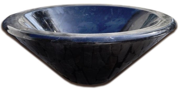 Kamienna umywalka Fidus Black