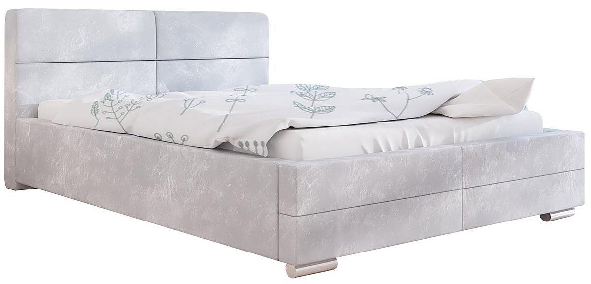 Podwójne łóżko z pojemnikiem 160x200 Oliban 2X - 48 kolorów