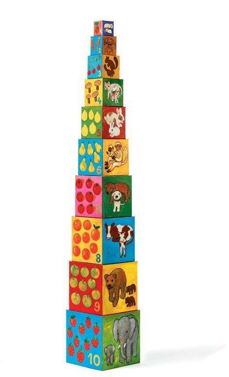 Moi przyjaciele - klocki dla dzieci, DJ08506-Djeco, zabawki z tektury