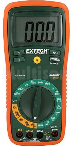 Multimetr cyfrowy EXTECH LCD (2000), podświetlany V AC:1m 2/200/750V