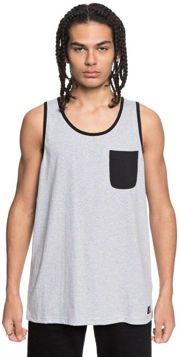 koszulka bez rękawów męska DC CONTRA TANK 2 Grey Heather - KNFH