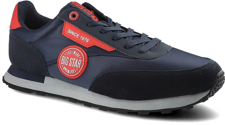 Sneakersy BIG STAR HH174252 Granat