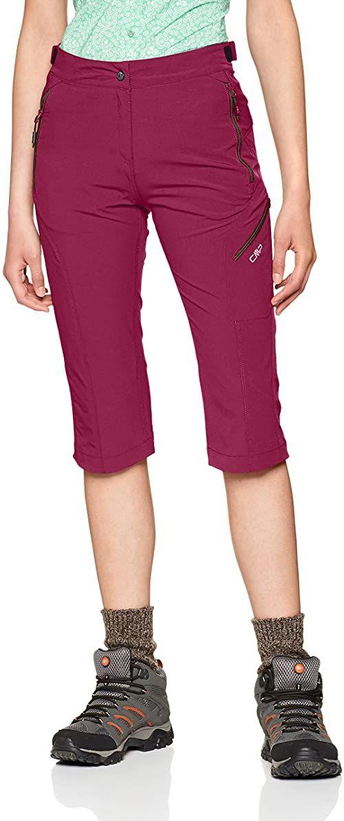 CMP spodnie damskie Capri czerwony Borgogna 36
