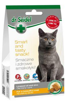 Dr Seidel Smakołyki Piękna Sierść dla Kota 50 g