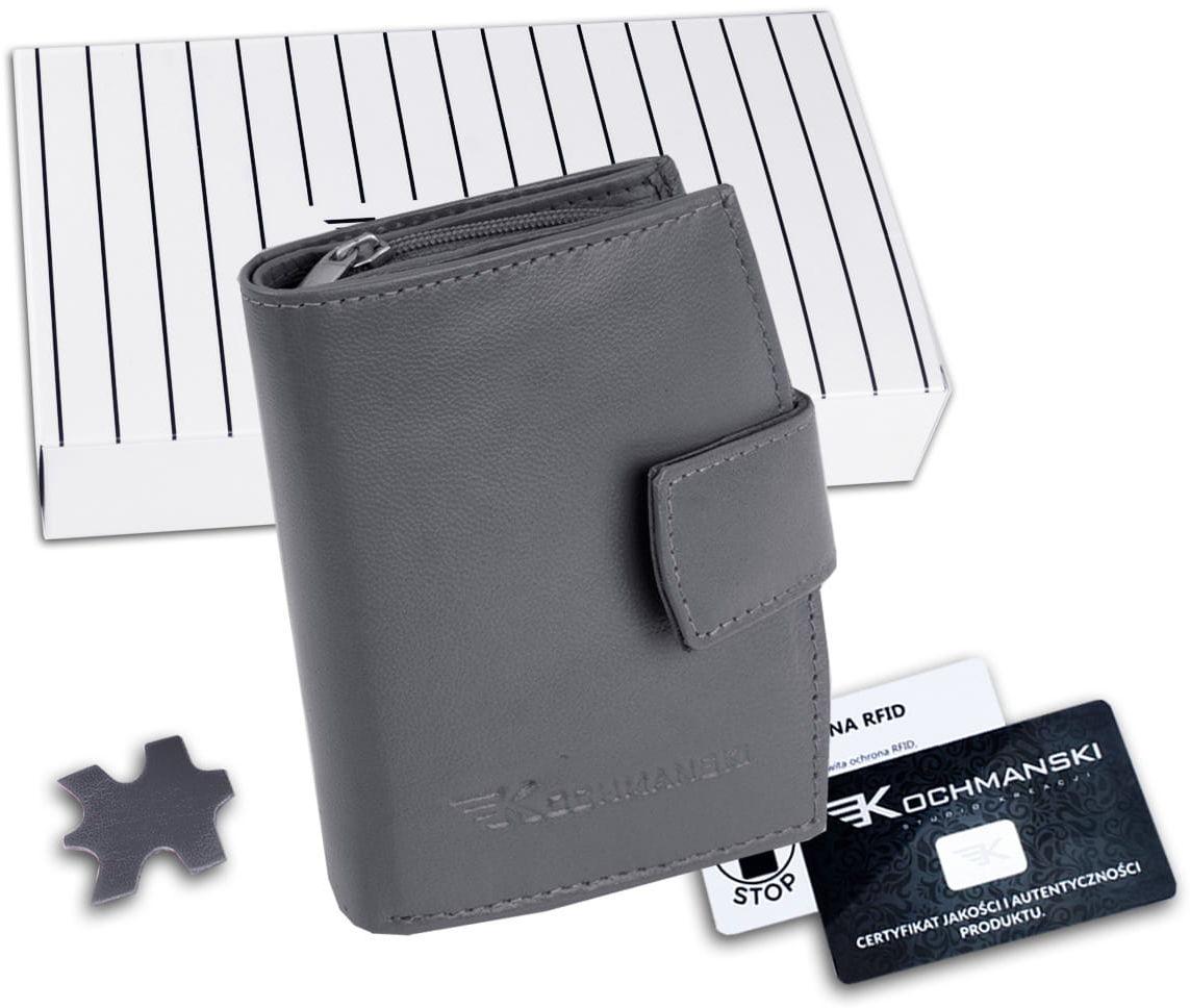 KOCHMANSKI portmonetka portfel damski skórzany mały 4361