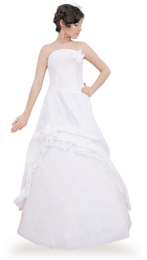 Sukienki Sukienka Suknie FSU074 BIAŁY BIAŁY