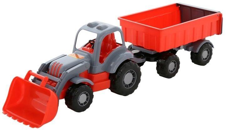 Pojazd Siłacz Traktor z przyczepą i łyżką