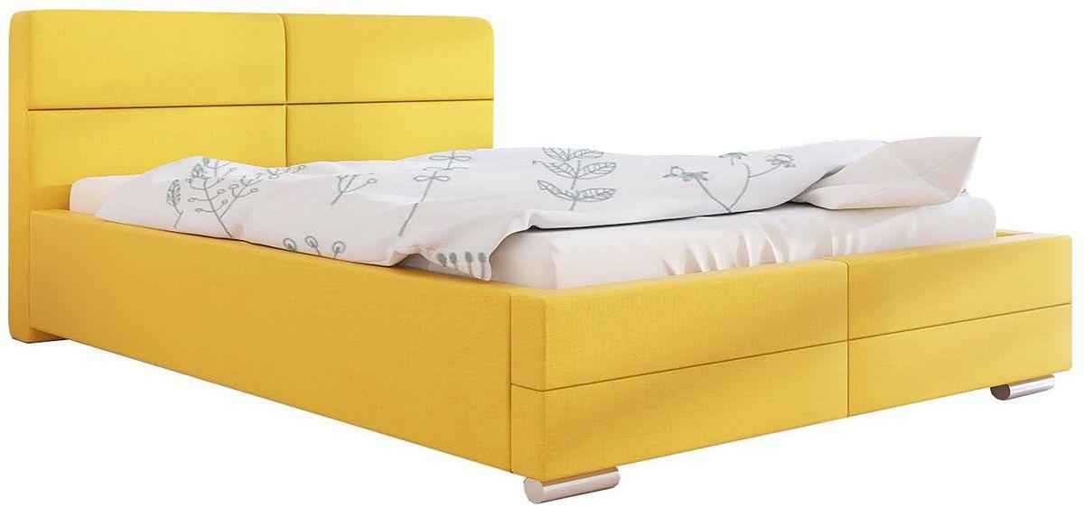 Tapicerowane łóżko małżeńskie 200x200 Oliban 3X - 48 kolorów