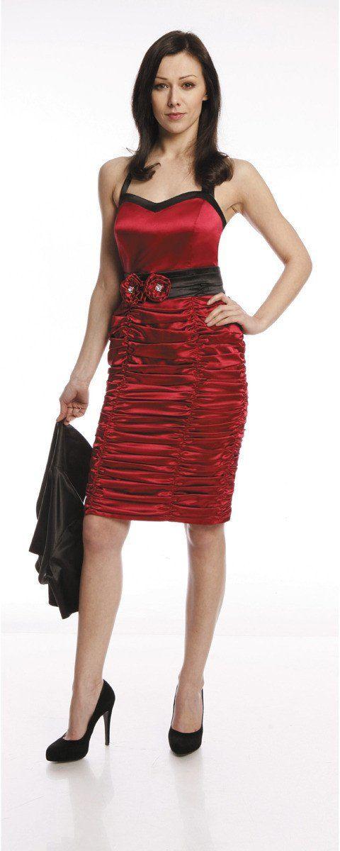 Sukienki Sukienka Suknie FSU190 RUBINOWY