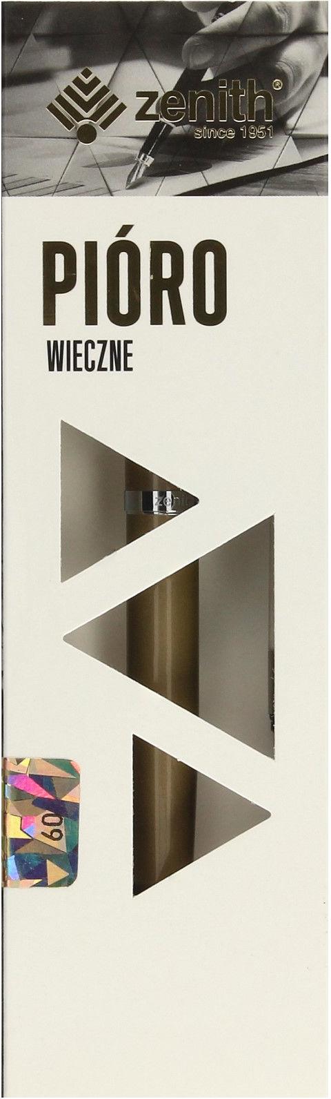 Pióro wieczne metalowe Elegance złoto Zenith 07600103