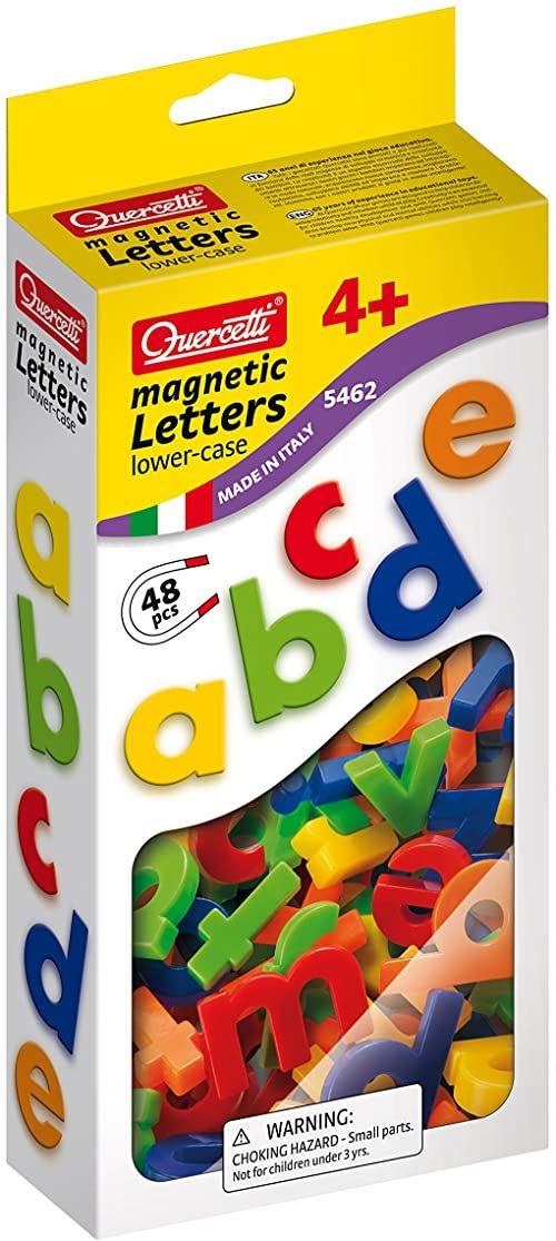 Quercetti - Opakowanie zastępcze 48 małych literek magnetycznych