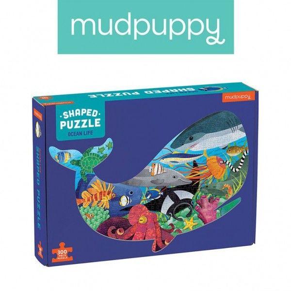 Mudpuppy Puzzle Kształty Życie Oceanu 300 Elementów 7+