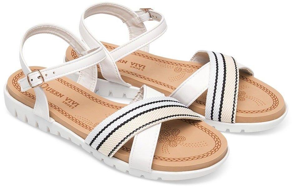 Sandałki damskie Queen Vivi 218-235 Białe