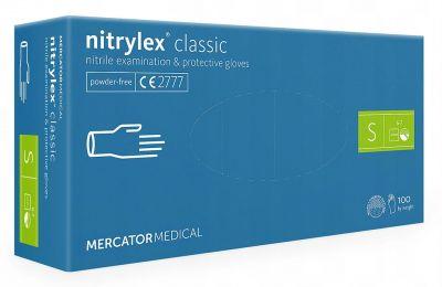 Rękawice ochronne nitrylowe Nitrylex  Classic Violet 100 szt. S