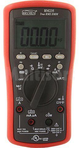 Multimetr cyfrowy BRYMEN LCD (6000), podświetlany 5x/s True RMS