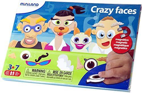 Miniland 31963 - On The Go: Crazy Faces, zabawka eksperymentowa