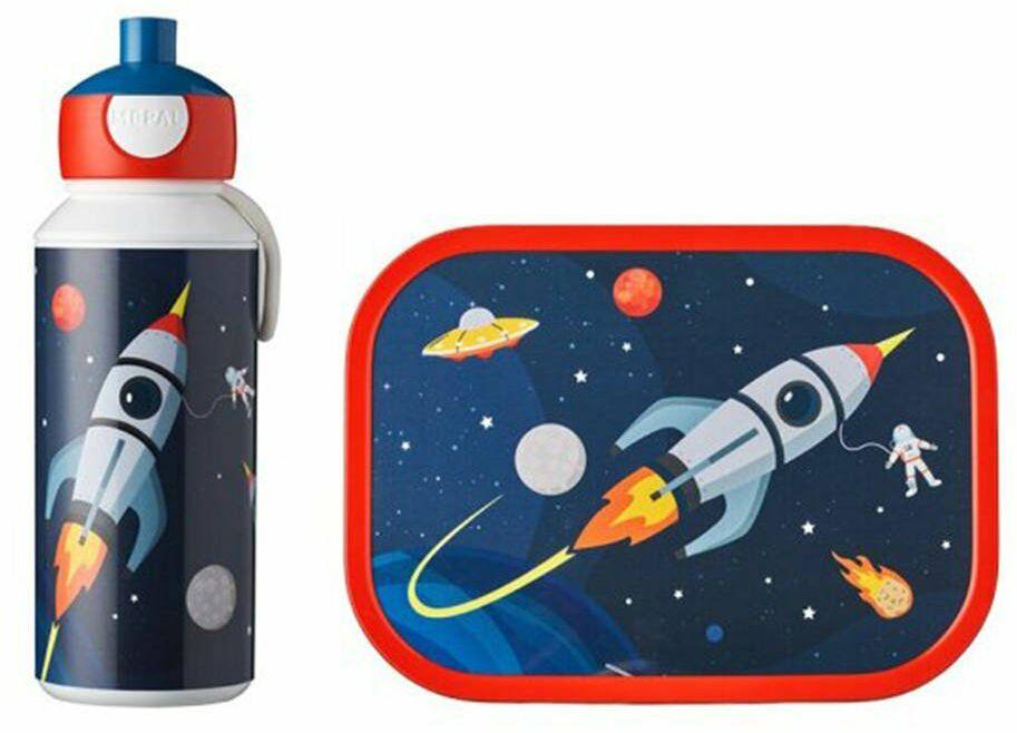 Zestaw dziecięcy bidon i lunchbox Campus Mepal - Space
