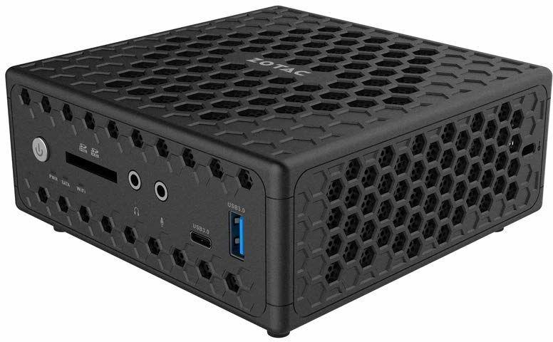 ZOTAC ZBOX CI329 nano mini PC z systemem Windows 10 w trybie S (Intel N4100 Quad-core, Intel UHD Graphics 600, 4 GB RAM, 64 GB M.2 SSD, Windows 10 Home w trybie S 64-bit)