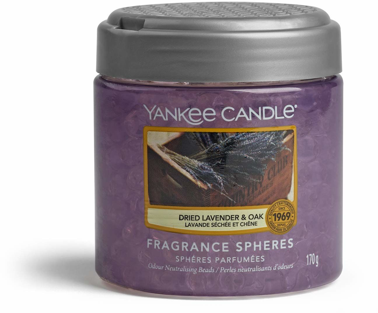 Yankee Candle Odświeżacz powietrza w kulach zapachowych, kolekcja na rynek rolnika, wysycha lawendę i dąb, fioletowy