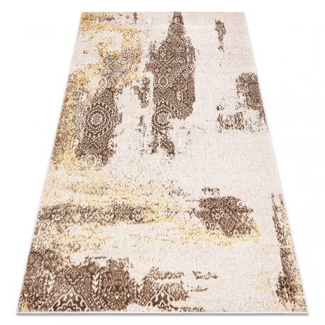 Dywan MEFE nowoczesny 8731 Rozeta vintage przecierany - Strukturalny, dwa poziomy runa beż 80x150 cm