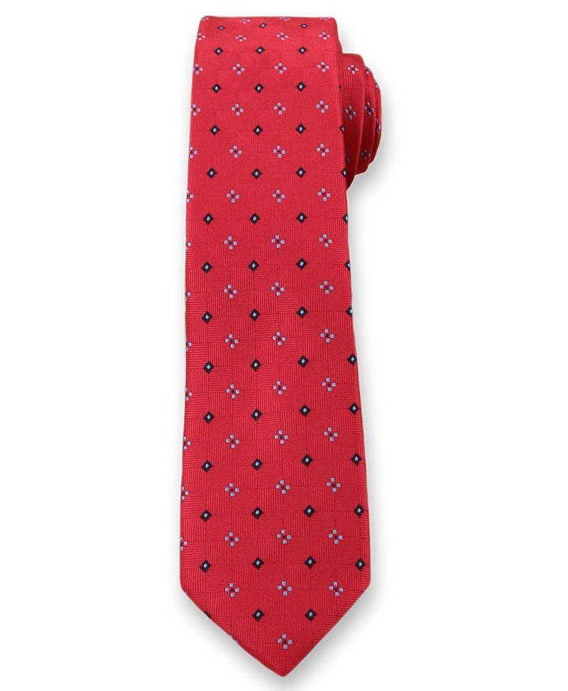 Wyrazisty Krawat Męski w Kwiaty - 6 cm - Angelo di Monti, Czerwony KRADM1292