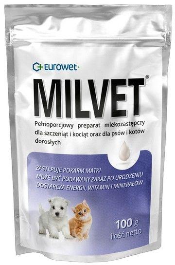 Milvet Preparat mlekozastępczy dla szczeniąt i kociąt 100g