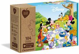 Clementoni 27153 Disney Mickey Classic-104 sztuki - wyprodukowano we Włoszech - 100% recyklingowane materiały, puzzle dla dzieci