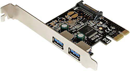 StarTech.com 2-portowa karta interfejsu USB 3.0 SuperSpeed PCI Express z przyłączem zasilania SATA  podwójna karta kontrolera USB 3.0 PCIe