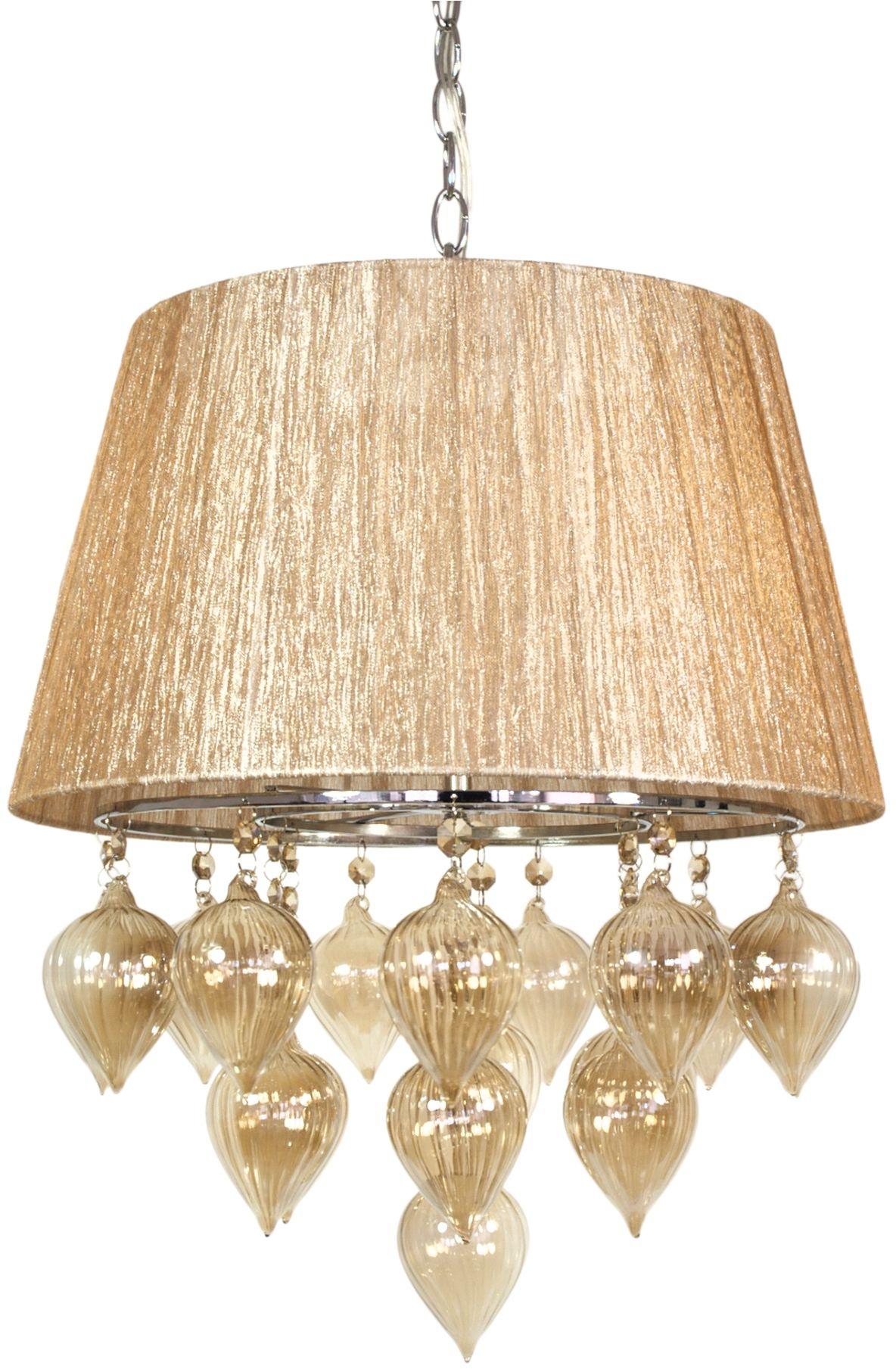 Candellux ELISSA 33-04567 lampa wisząca beżowy szklane bombki 3X40W E14 40cm