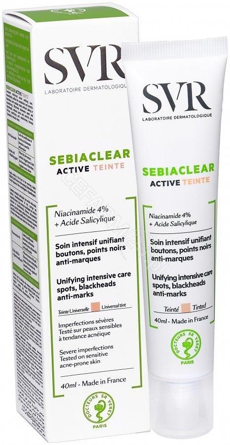 SVR Sebiaclear Active teinte krem 40 ml